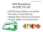 dot regulations 49 cfr 170 189