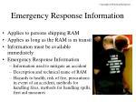 emergency response information