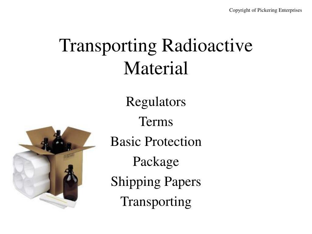 transporting radioactive material l.