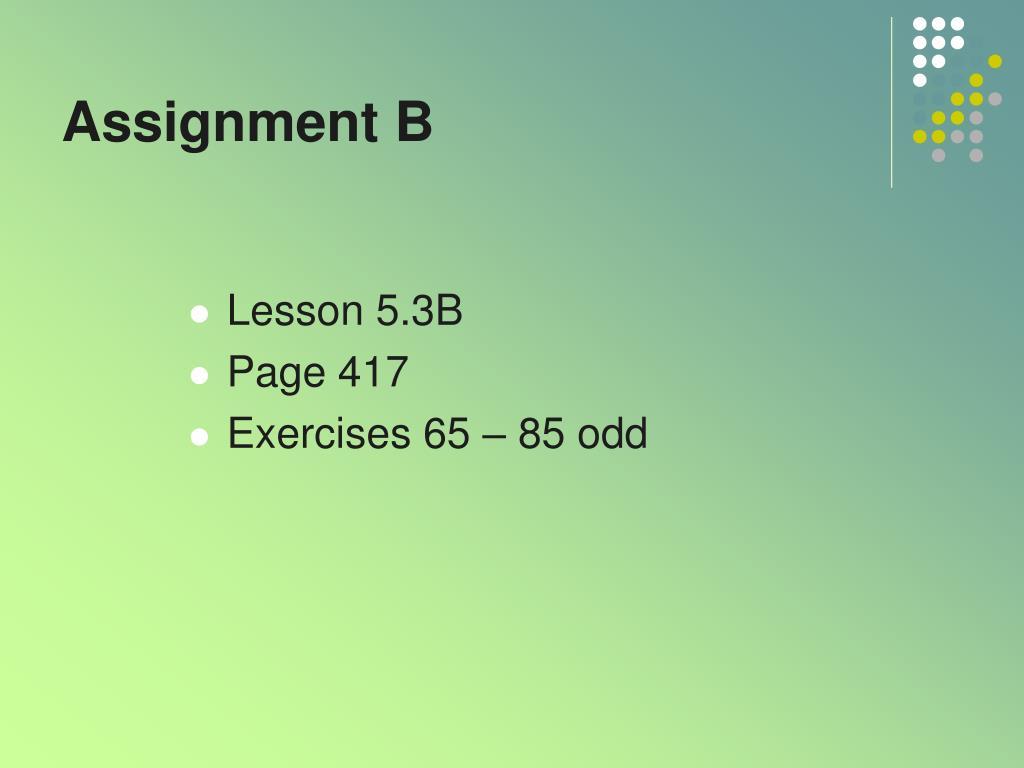 Assignment B