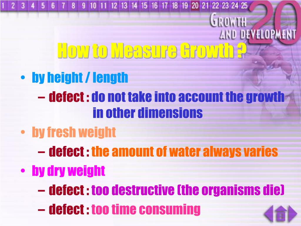 How to Measure Growth ?