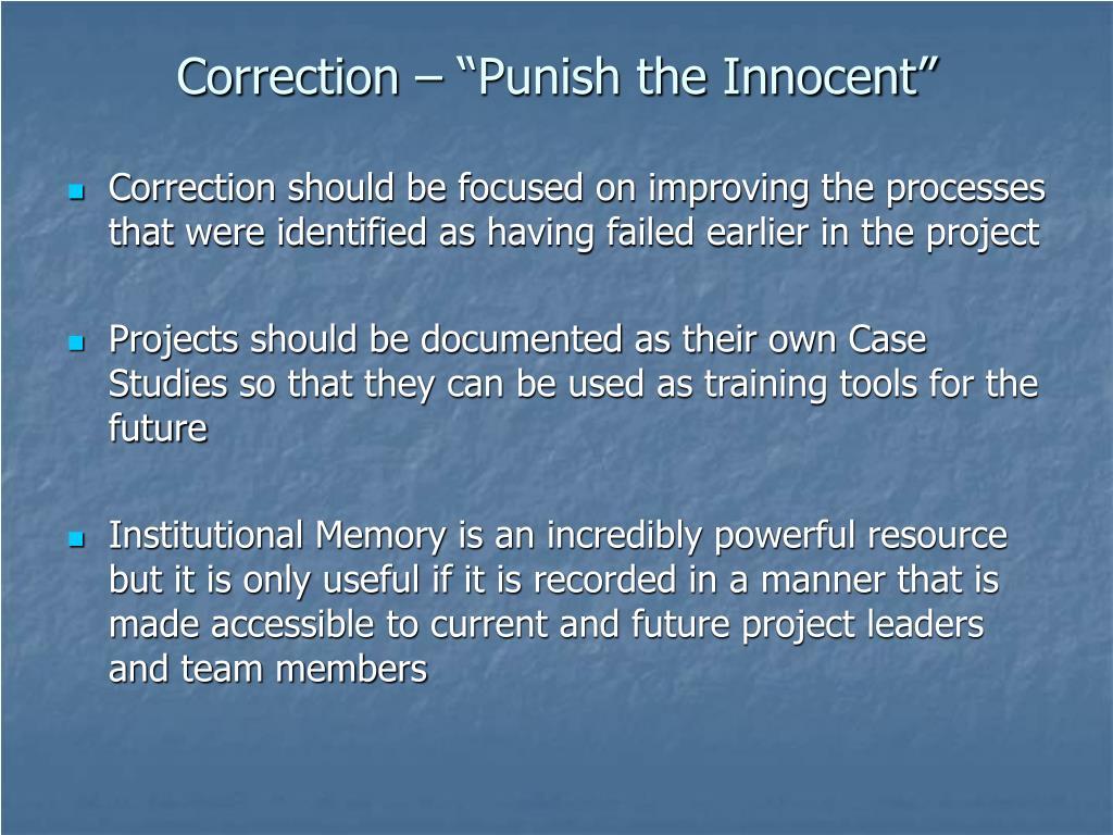 """Correction – """"Punish the Innocent"""""""