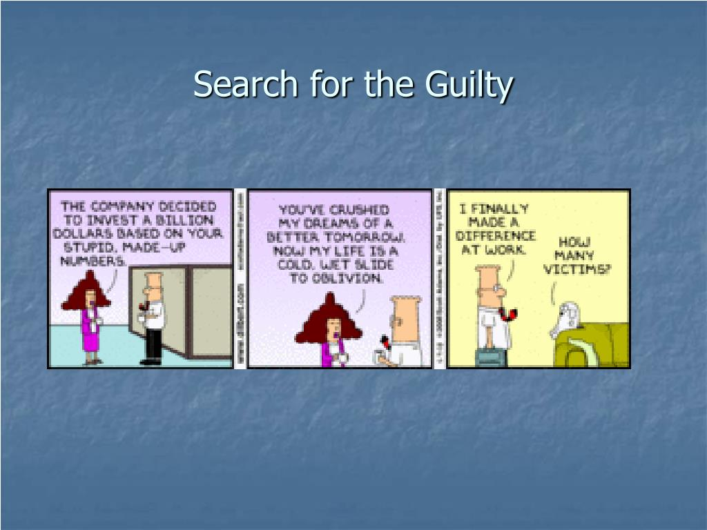 Search for the Guilty