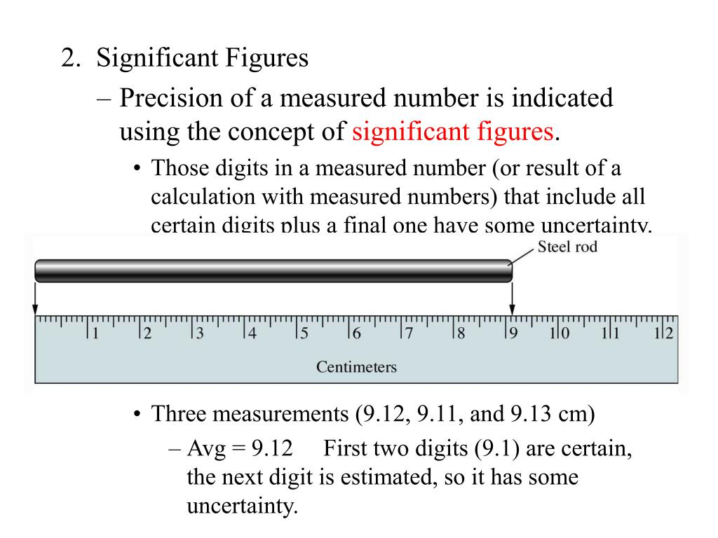 2.  Significant Figures