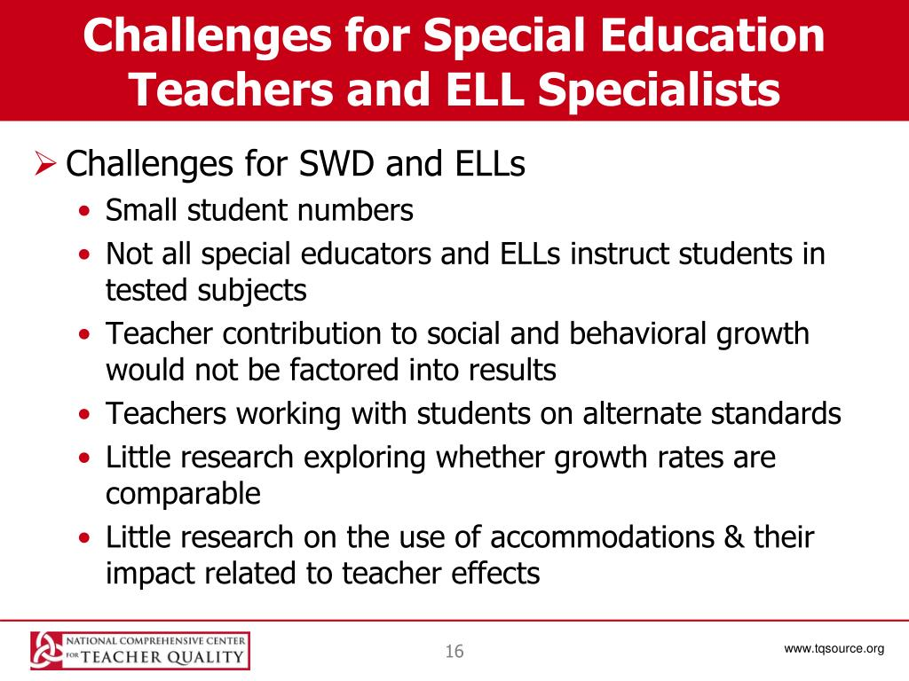 Challenges for Special Education Teachers and ELL Specialists