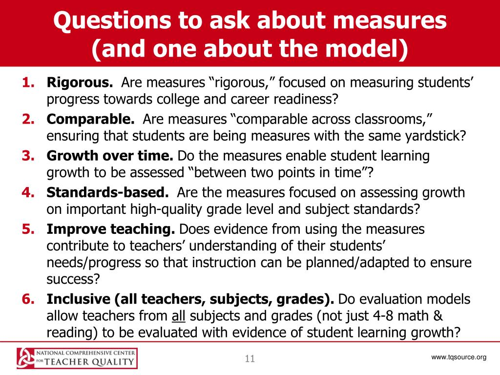 Questions to ask about measures