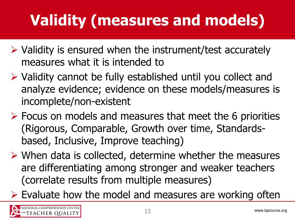 Validity (measures and models)