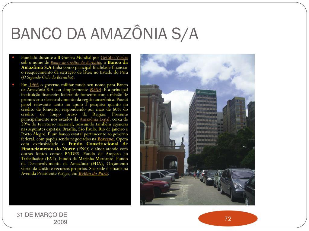 BANCO DA AMAZÔNIA S/A