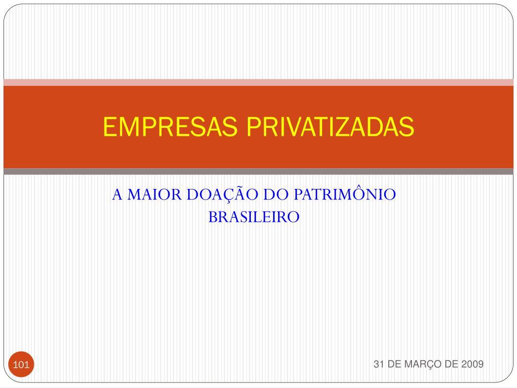 EMPRESAS PRIVATIZADAS