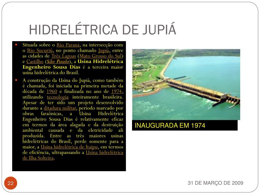 HIDRELÉTRICA DE JUPIÁ