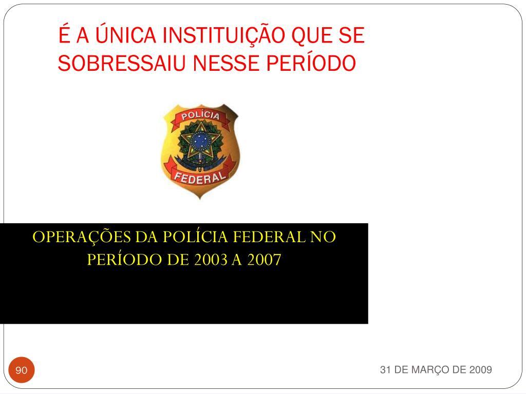 OPERAÇÕES DA POLÍCIA FEDERAL NO PERÍODO DE 2003 A 2007