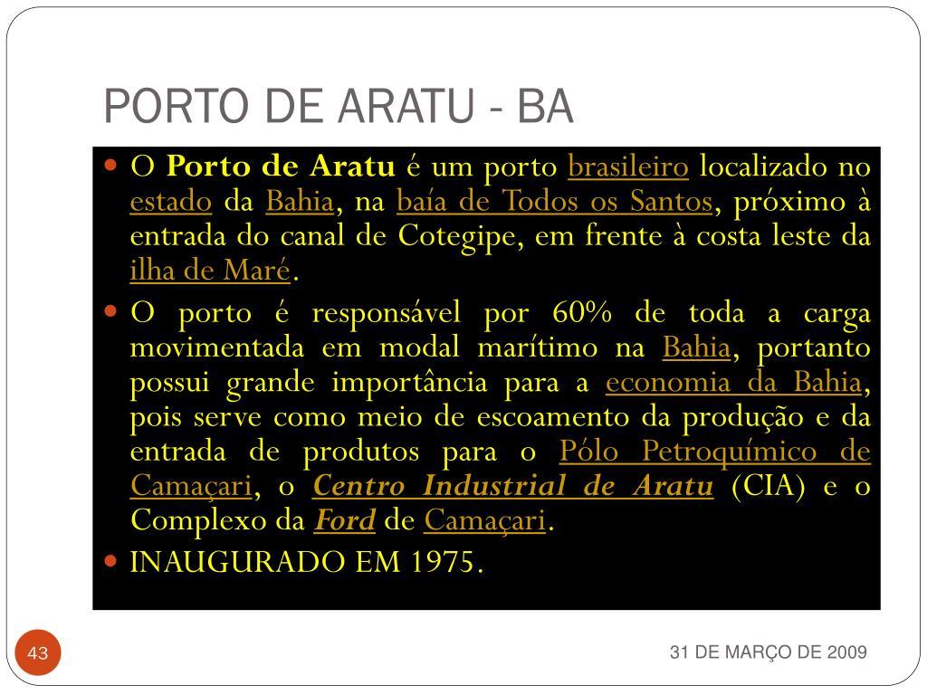 PORTO DE ARATU - BA