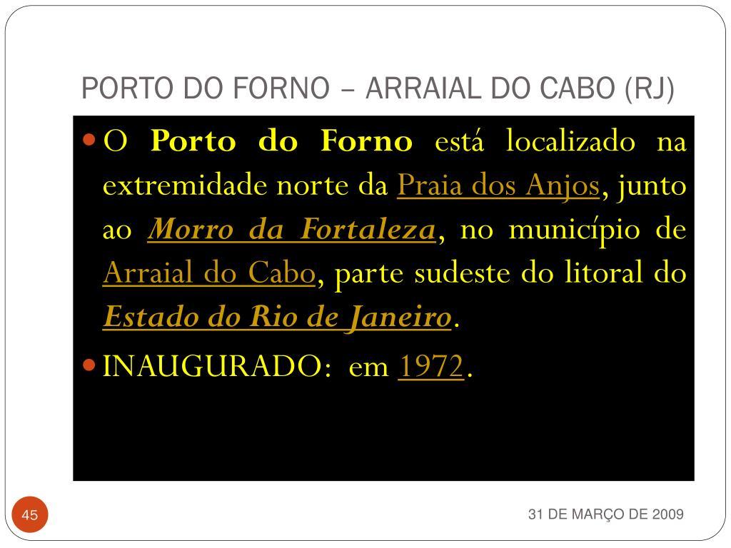 PORTO DO FORNO – ARRAIAL DO CABO (RJ)