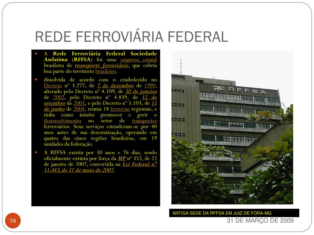 REDE FERROVIÁRIA FEDERAL