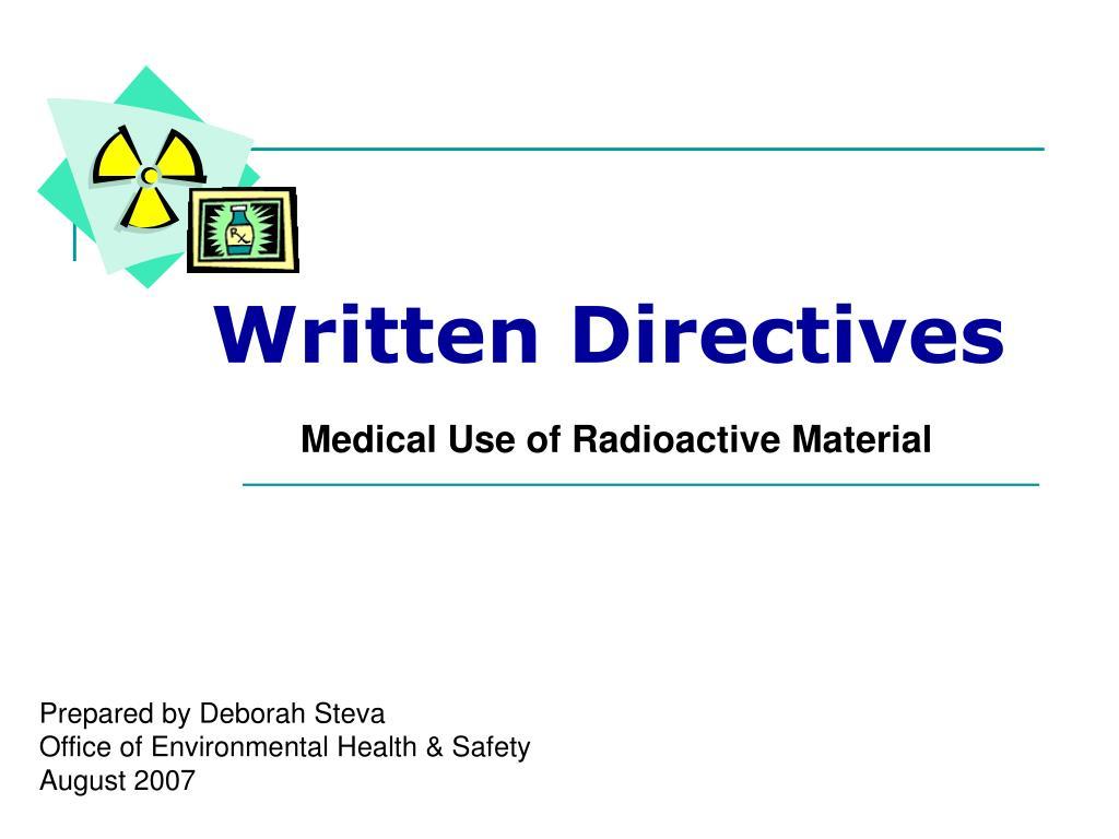 written directives l.