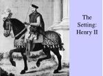 the setting henry ii