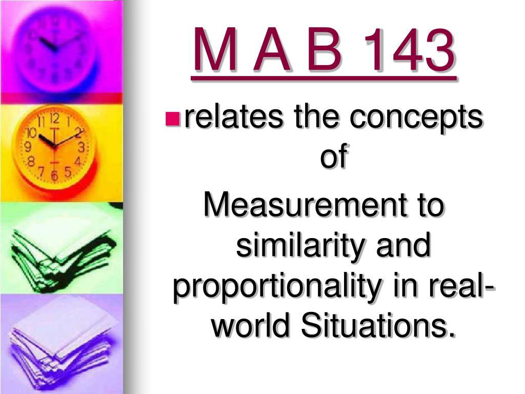 M A B 143
