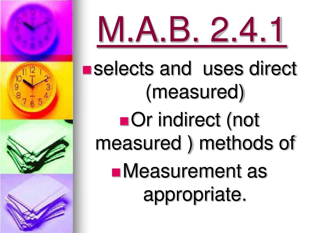 M.A.B. 2.4.1