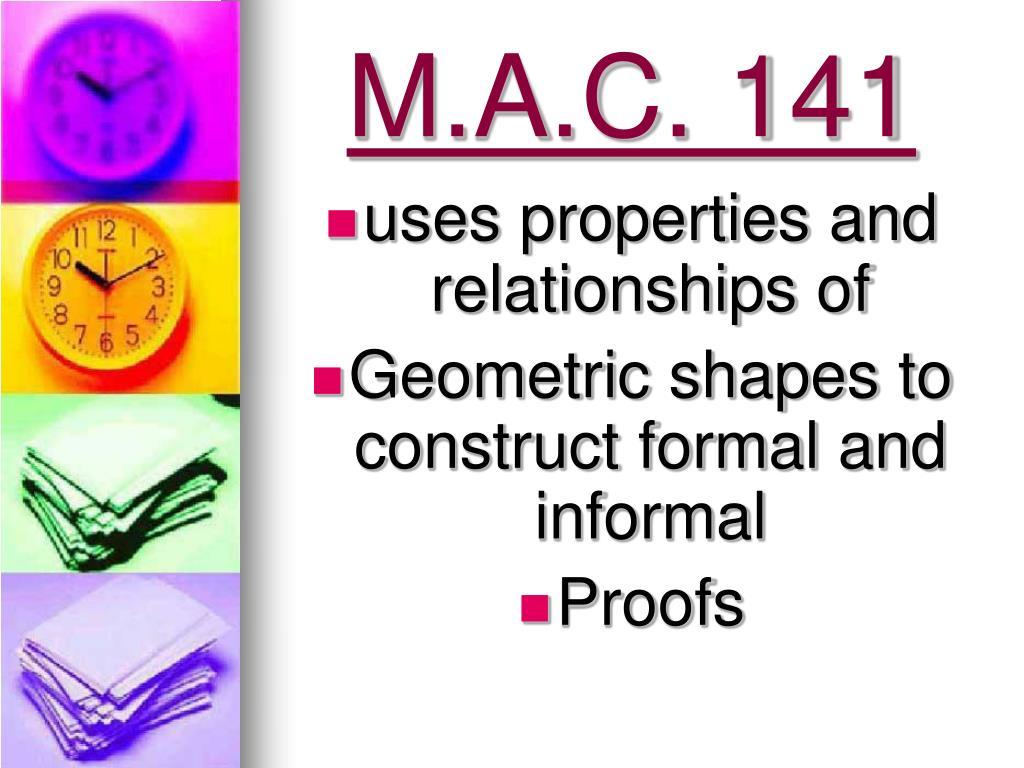 M.A.C. 141