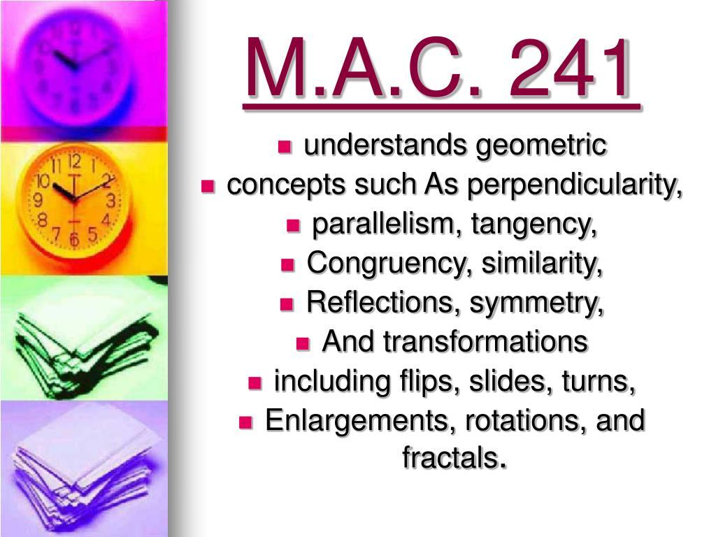 M.A.C. 241