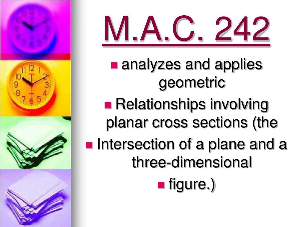 M.A.C. 242