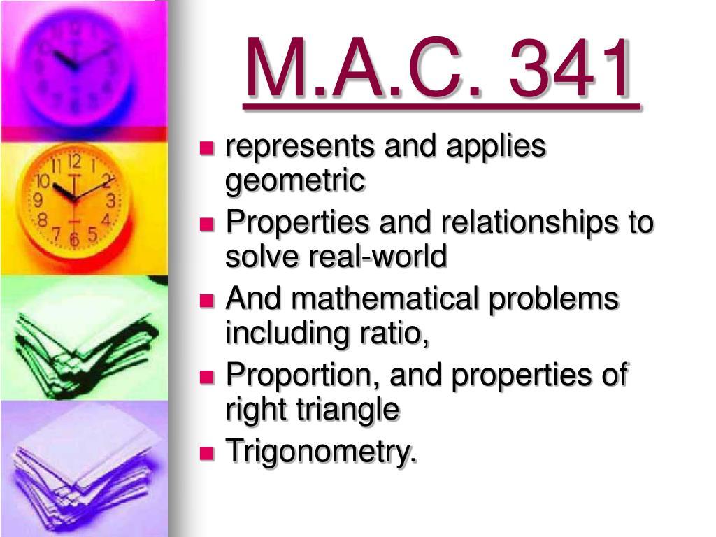 M.A.C. 341