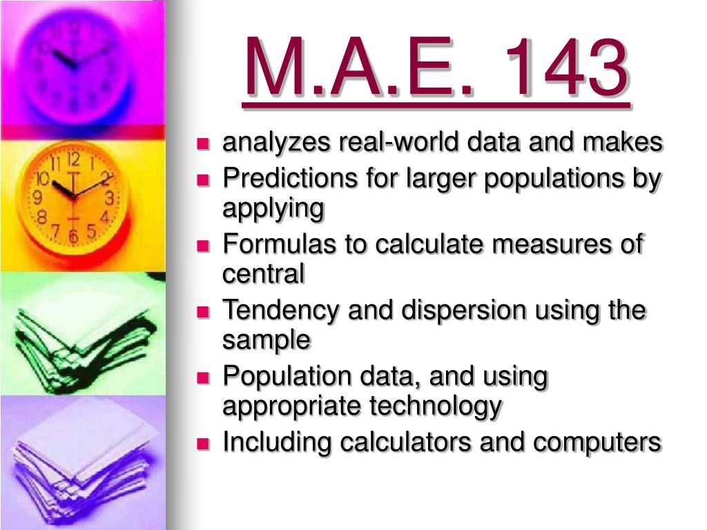 M.A.E. 143