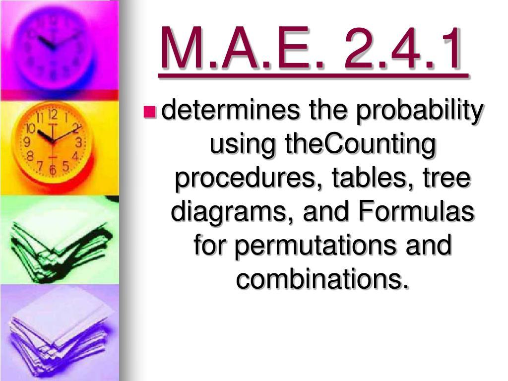 M.A.E. 2.4.1