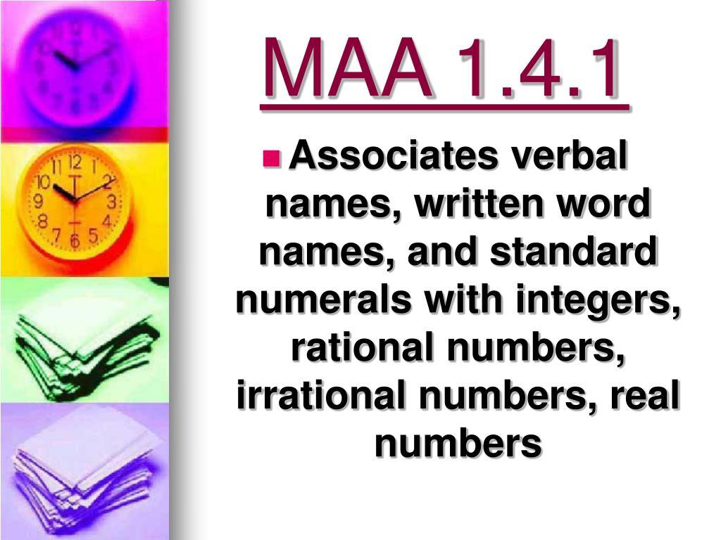 MAA 1.4.1