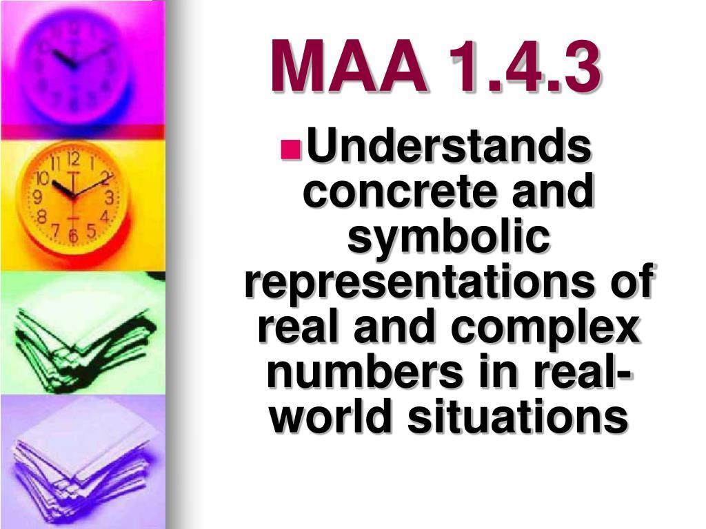 MAA 1.4.3
