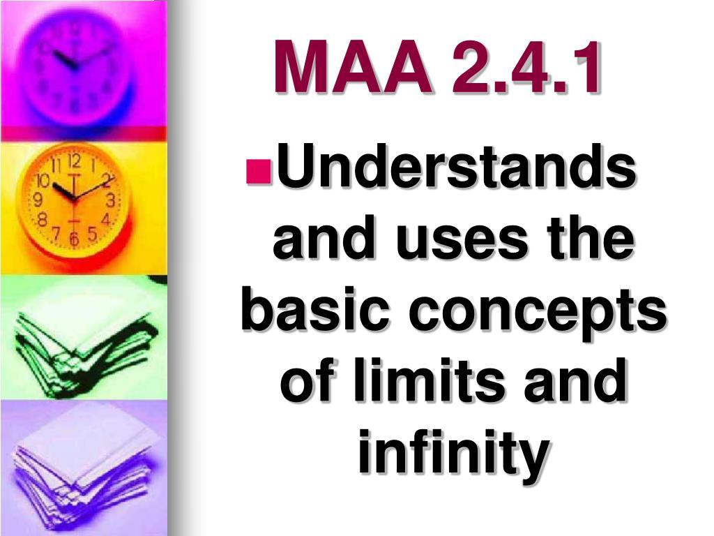 MAA 2.4.1