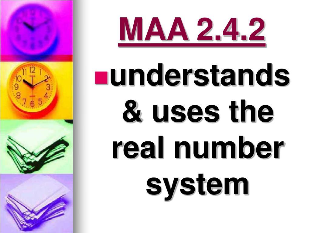 MAA 2.4.2