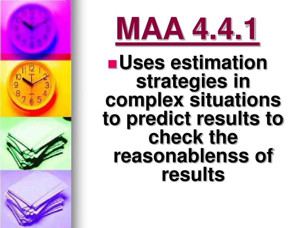 MAA 4.4.1