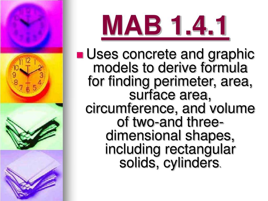 MAB 1.4.1