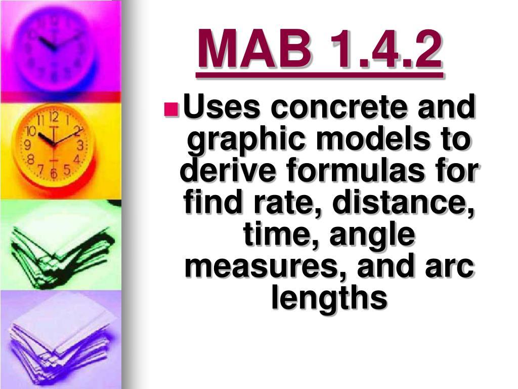 MAB 1.4.2