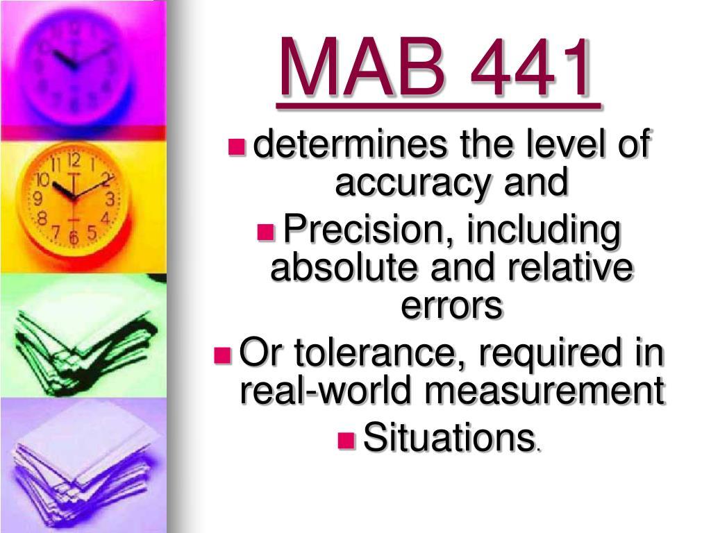 MAB 441