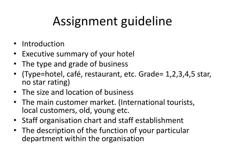 Assignment guideline3