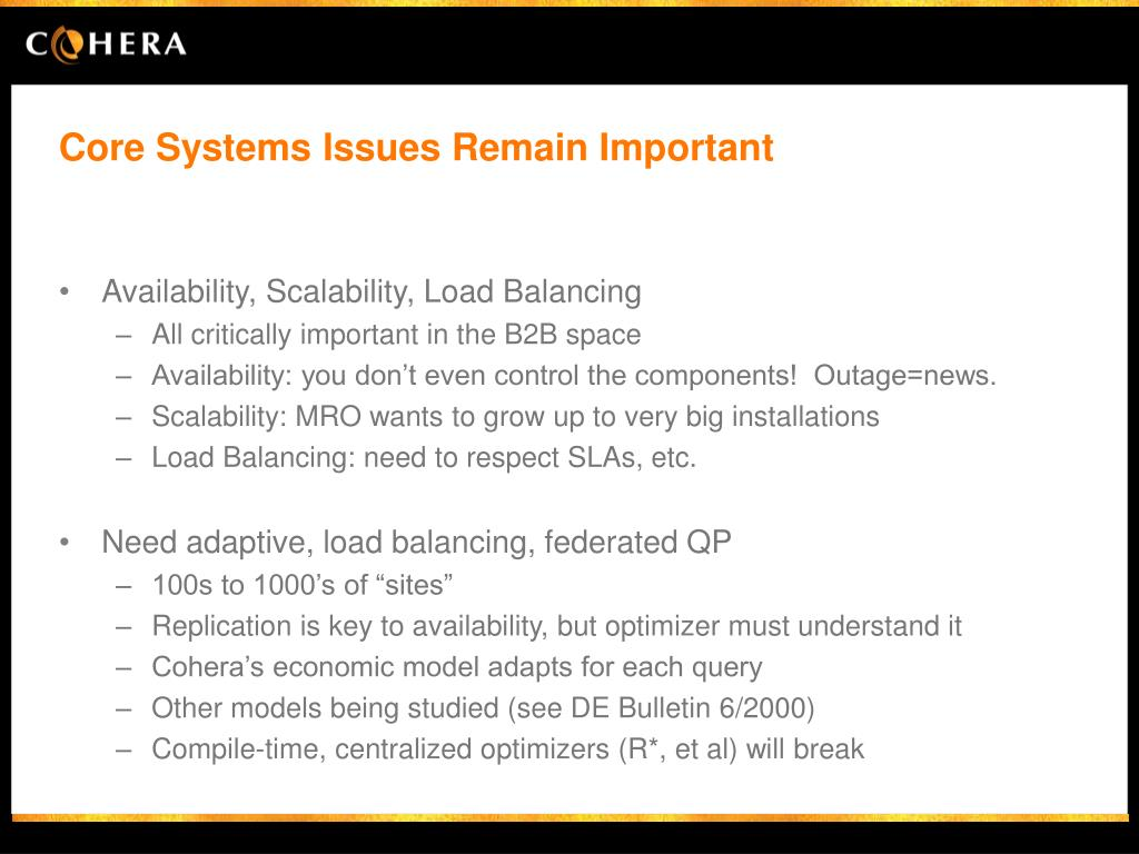 Core Systems Issues Remain Important
