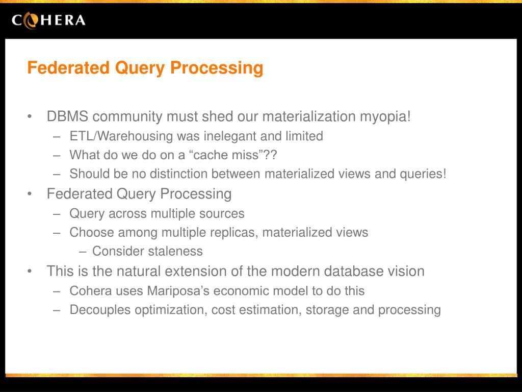 Federated Query Processing