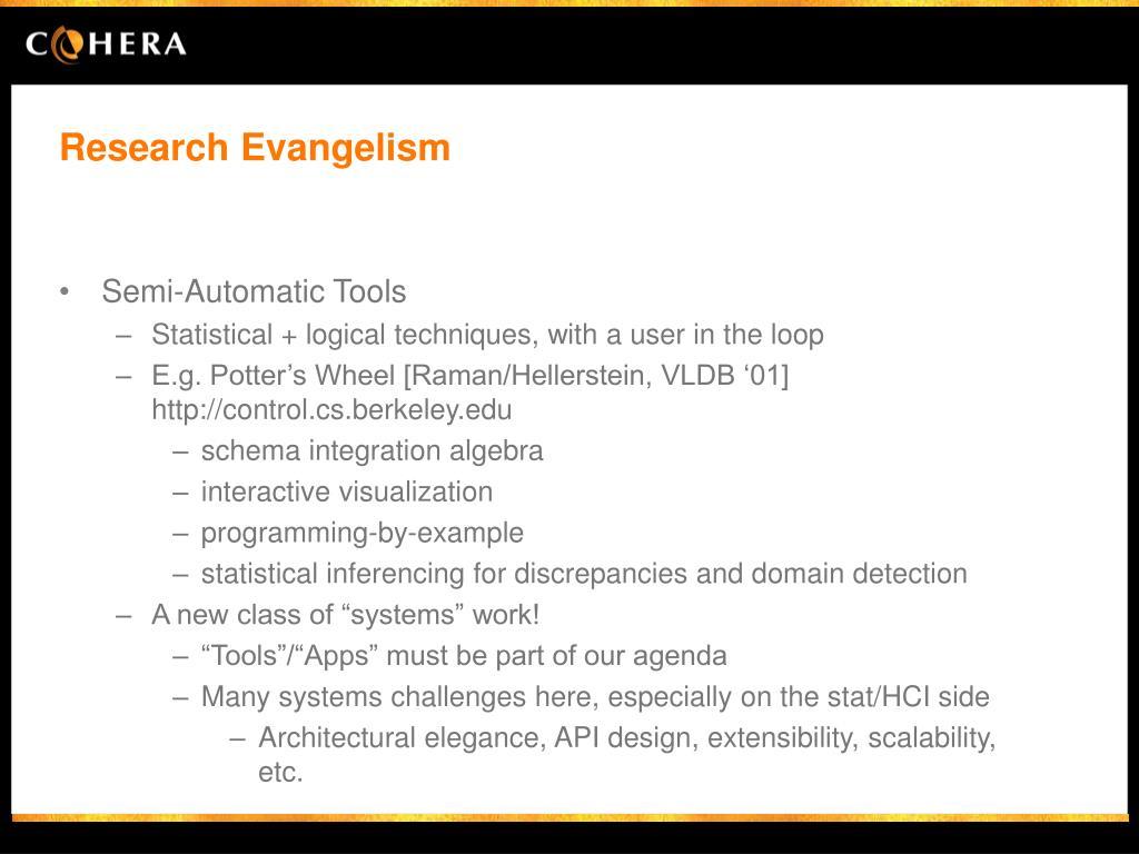 Research Evangelism