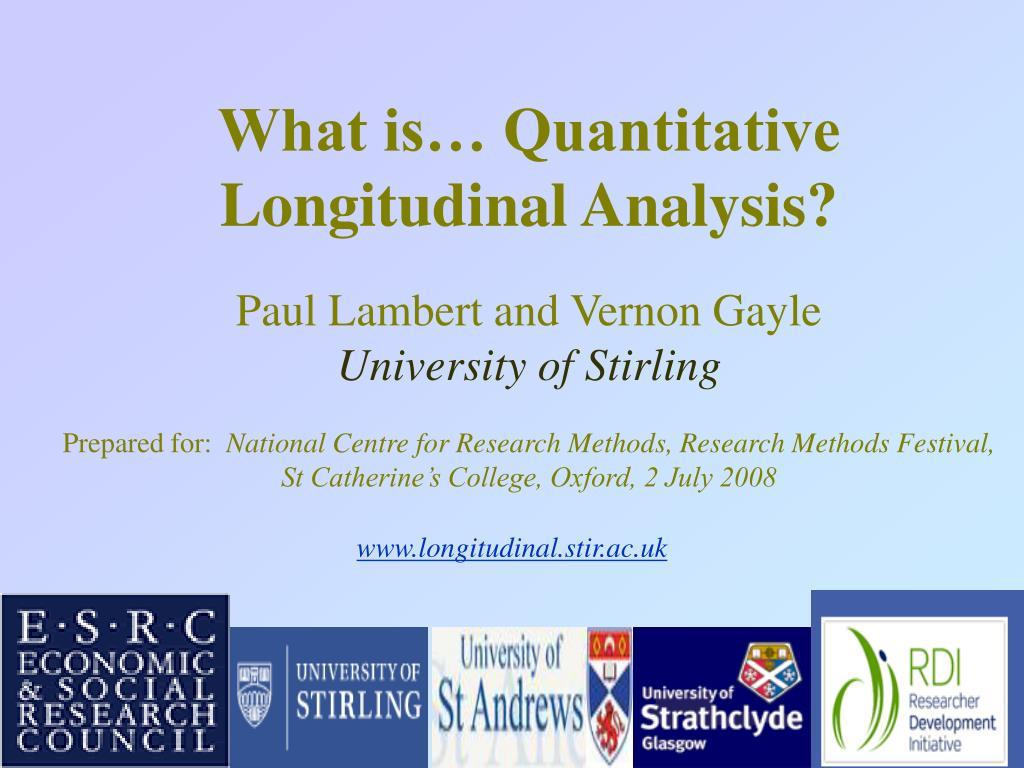www longitudinal stir ac uk