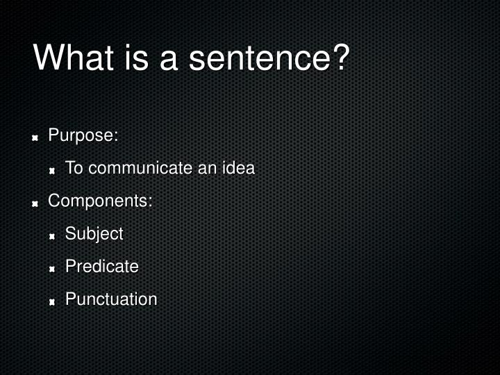 What is a sentence