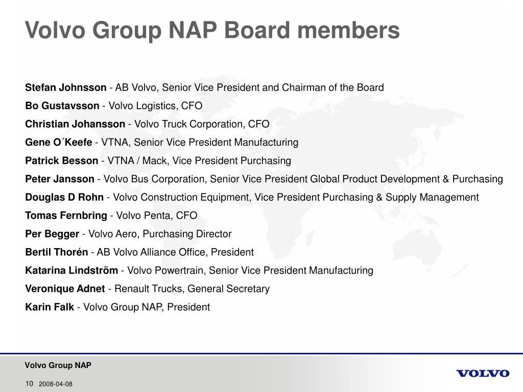PPT - Volvo Group NAP Corporate Presentation PowerPoint Presentation - ID:360528