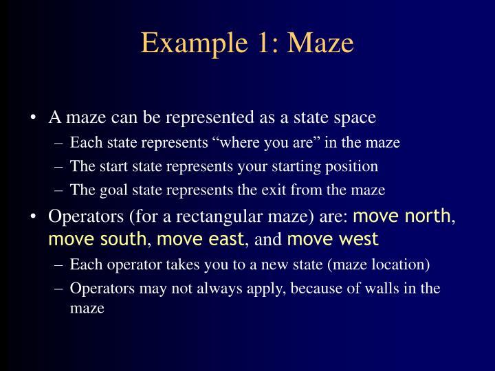 Example 1 maze