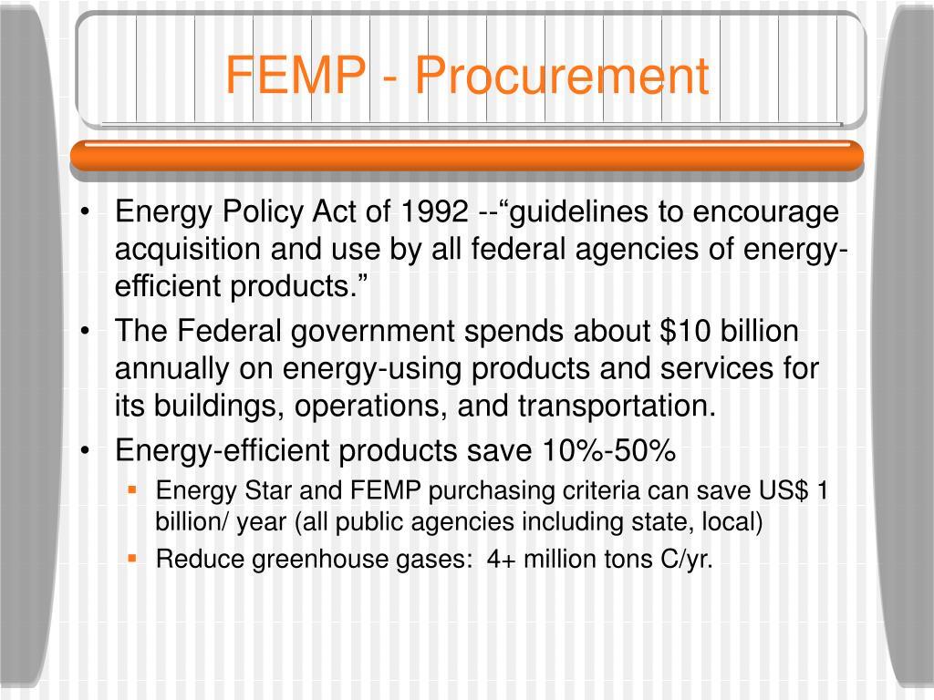 FEMP - Procurement