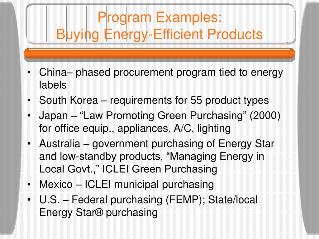 Program Examples: