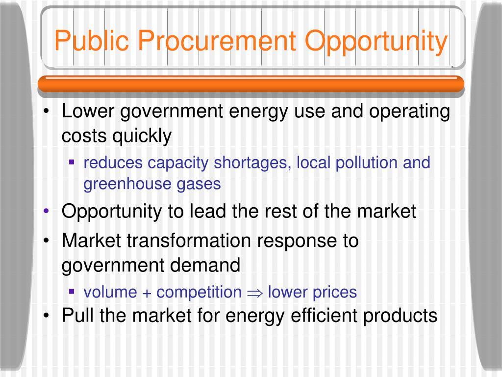 Public Procurement Opportunity