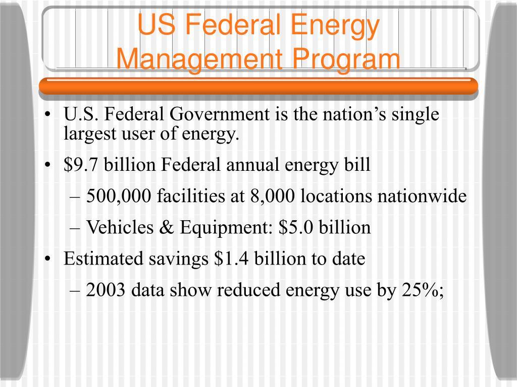 US Federal Energy Management Program