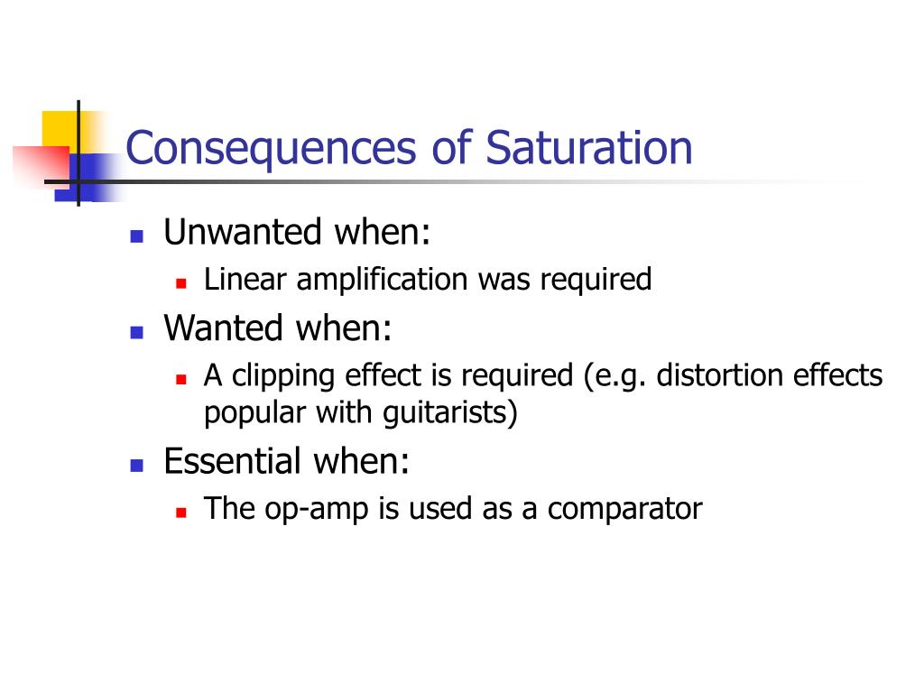 Consequences of Saturation
