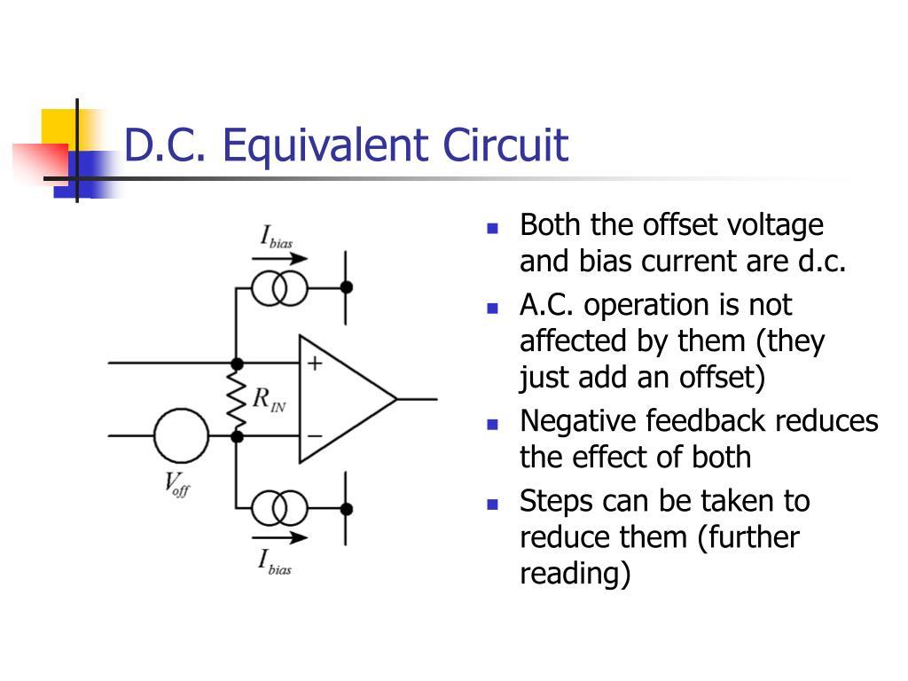D.C. Equivalent Circuit